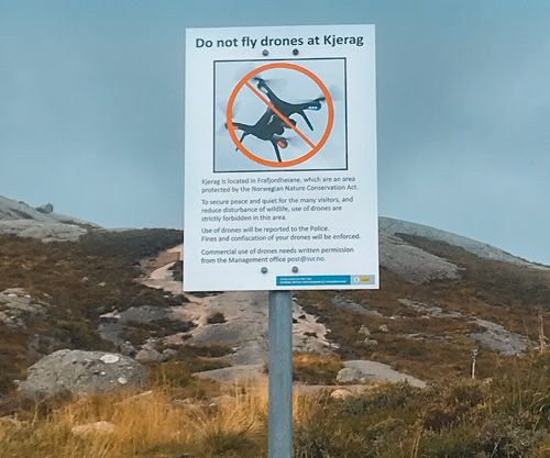 Señal de prohibido volar drones