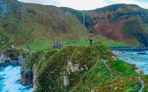 Kinbane Castle en Irlanda del Norte