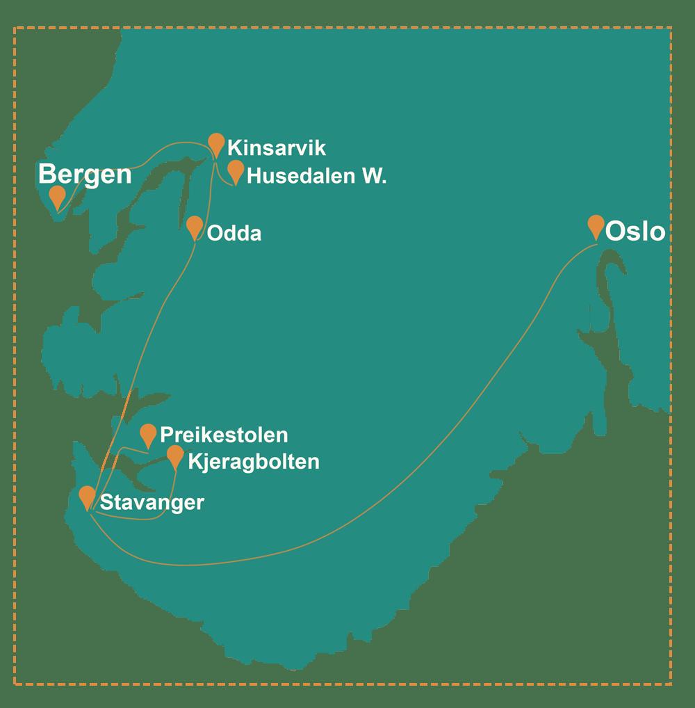mapa sur noruega