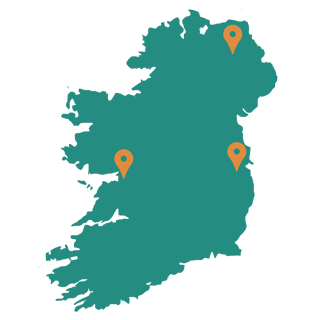 Mapa relleno de Irlanda
