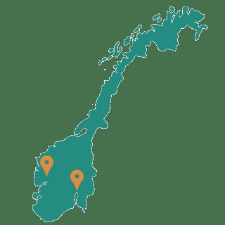 Mapa relleno de noruega