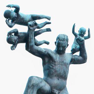 figura padre y niños del parque de vigeland