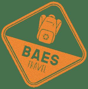 Logotipo puño pasaporte viajes Baestravel