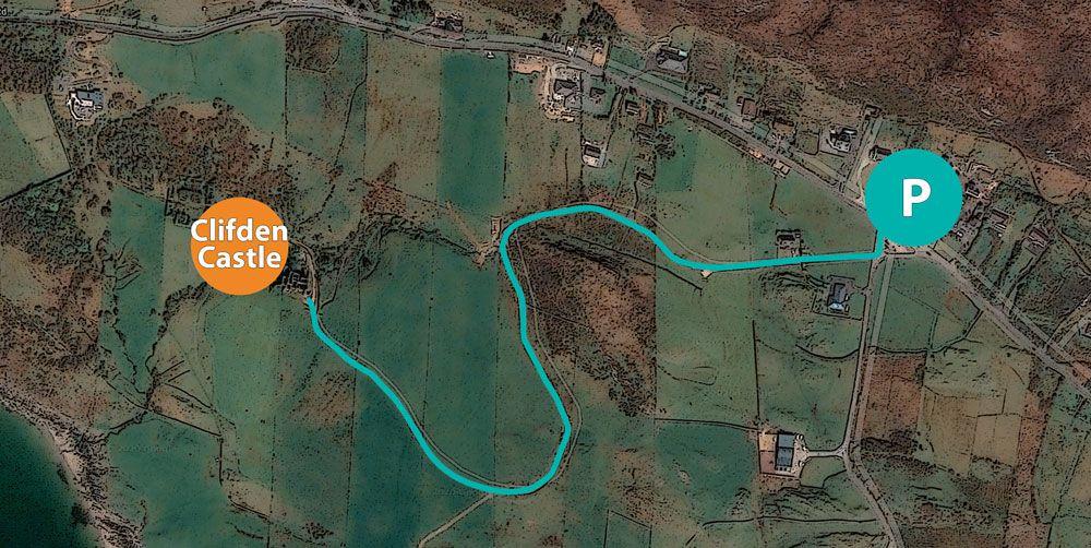 Ruta por clifden castle