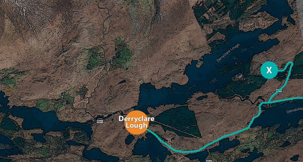 Track de la ruta por Derryclare