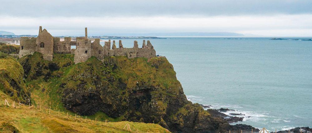 Dunluce Castle y sus acantilados