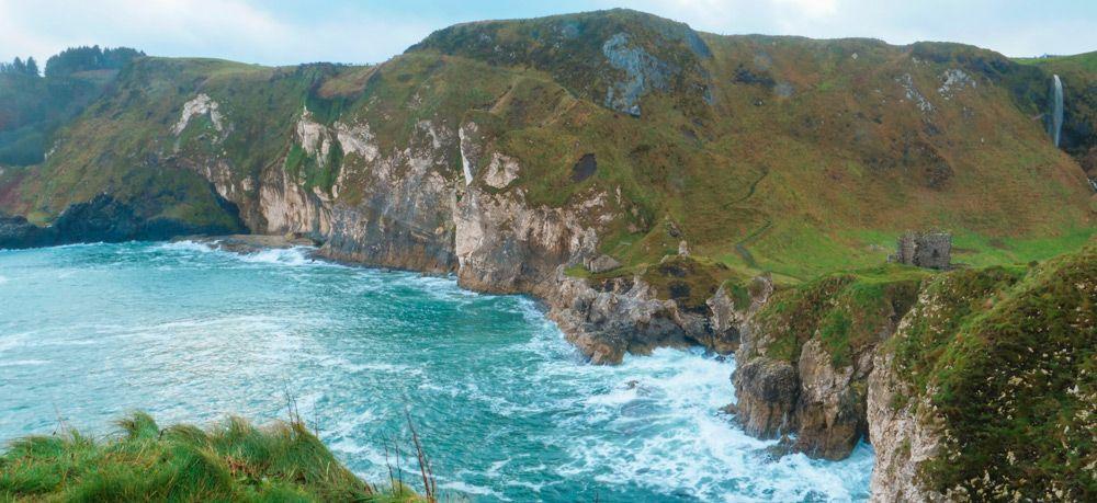 paisaje desde el punto más adentro del mar
