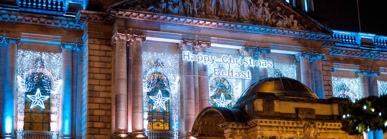 City Hall de Belfast en navidad
