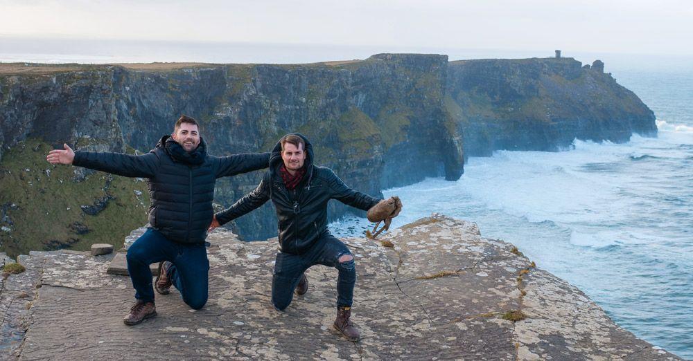 Vicent y Ruben en los Cliffs of Moher
