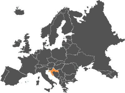 mapa croacia europa