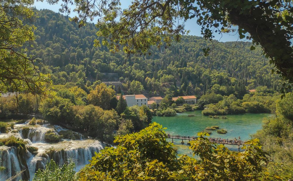 Vistes durant excursió al parc nacional Krka de Croàcia