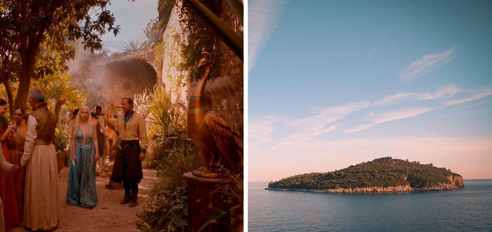 Isla Lokrum donde se rodó juego de Tronos en Dubrovnik