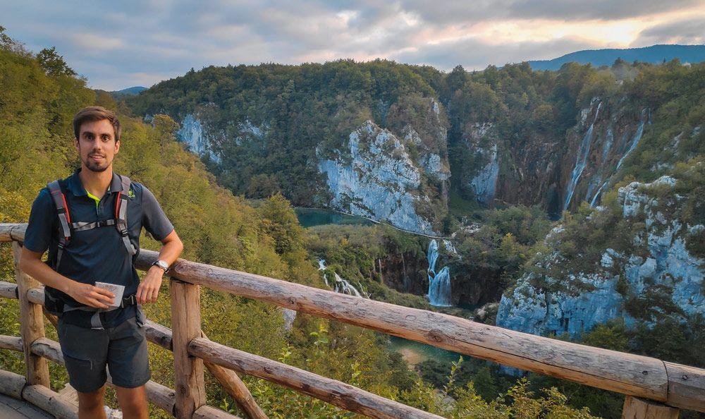 Valle de la entrada de los Lagos de Plitvice