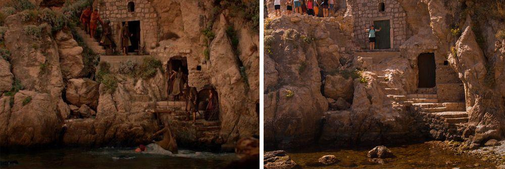 Paret de piedra en la bahía de Duvronik donde rodaron Juego de Tronos