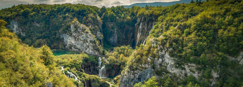 Valle del Parque de los Lagos de Plitvice