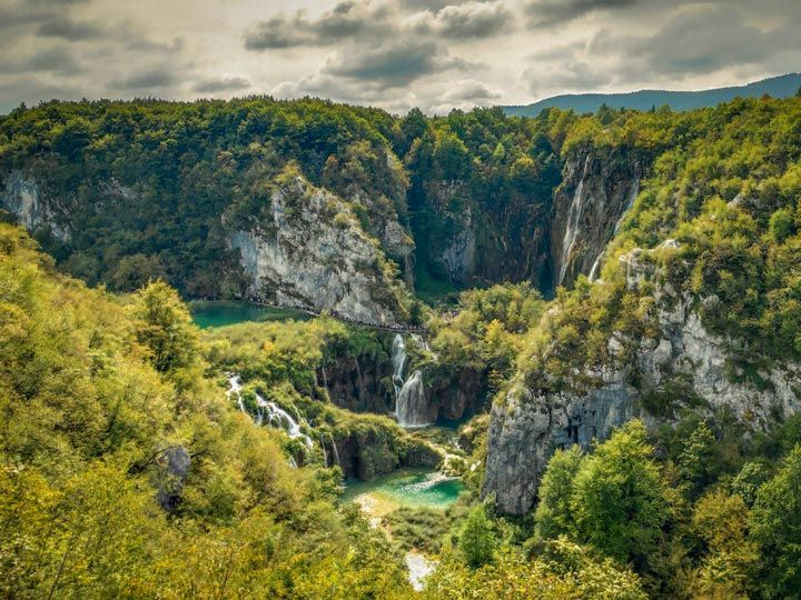 Valle del Parque Nacional de los Lagos de Plitvice