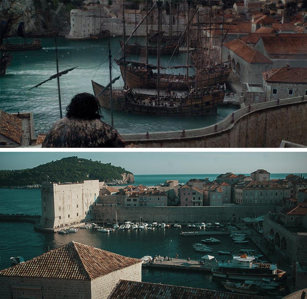 Puerto viejo de Dubrovnik donde se grabó Juego de Tronos