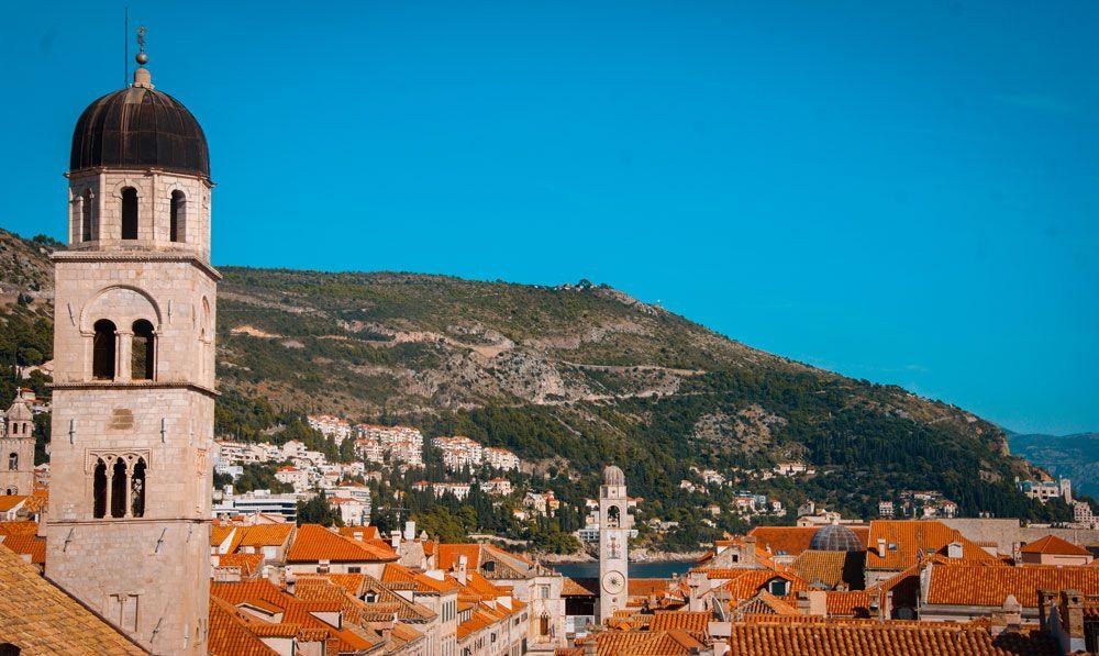 Tejados y campanarios de Dubrovnik