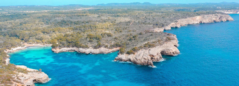Costa de Menorca a vista de dron