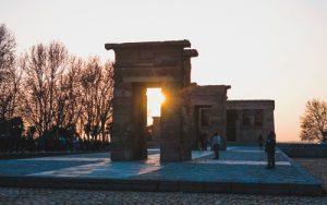 fotografía del templo de debod en nuestra escapada a Madrid