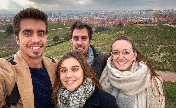 la ultima foto de nuestro viaje a Madrid de 3 dias