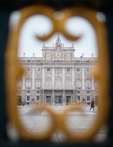 La entrada al Palacio Real de Madrid