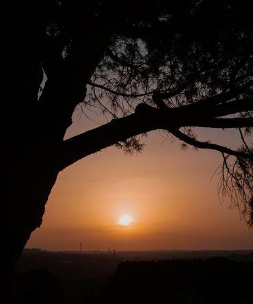 la mejor puesta de sol en nuestra escapada a Madrid de 3 dias