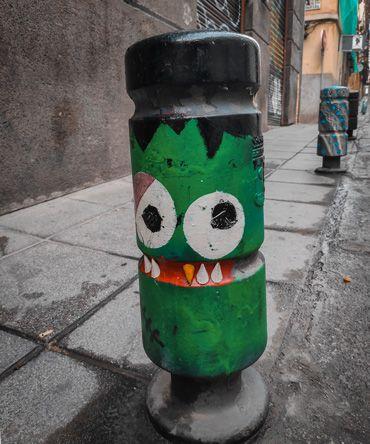 decoración en el barrio de lavapies