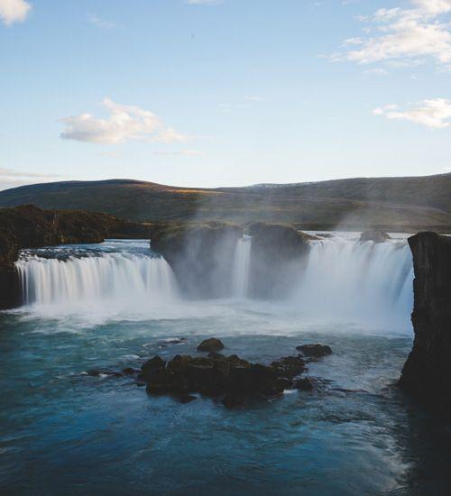 como llegar a la cascada godafoss de islandia
