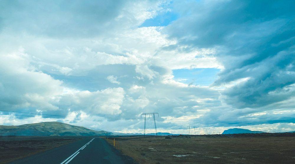 aquí se puede apreciar el cambio de clima de Islandia