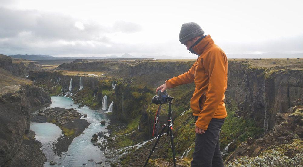 fotografiar estas cascadas estaba en rojo en nuestro itinerario a islandia en 10 días