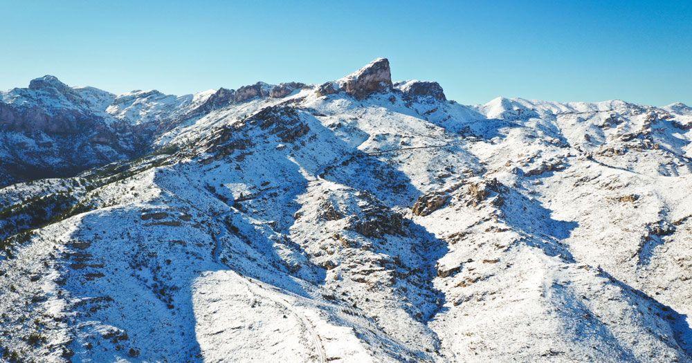 Nevada Morral de Cabrafeixet del Perelló Temporal Filomena 2021