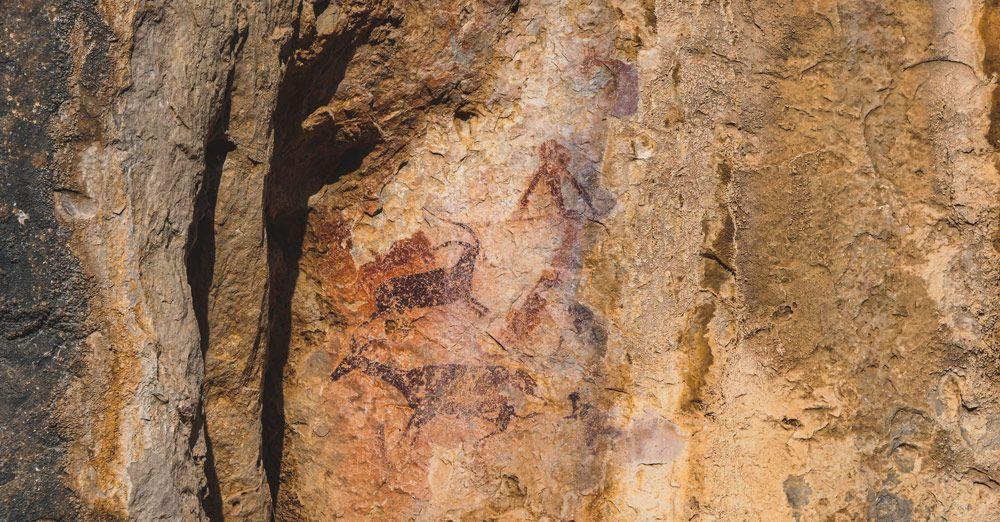 Les pintures rupestres del Perelló a l'abric de cabrafeixet